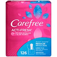 Deals on Carefree Acti-Fresh Body Shape Ultra-Thin Panty Liners 126-Count