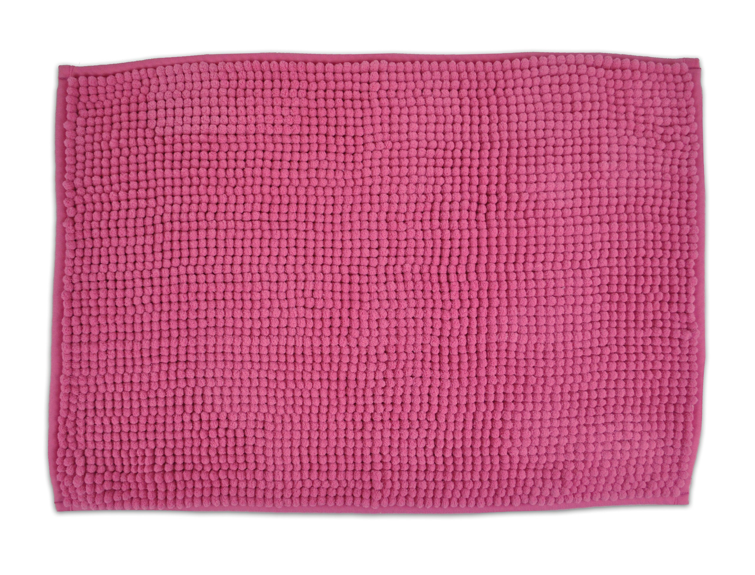 "DII Ultra Soft Plush Spa Pebble Chenille Bath Mat Place in Front of Shower, Vanity, Bath Tub, Sink, and Toilet, 17 x 24"" - Pink - Measures 17x24"". This non-slip bath rug is machine washable Fun, bright or earth tone bath mats to match or coordinate with existing or other new bathroom decor Soft to touch bath rugs, comfortable padding, constructed to absorb water quickly and dries fast - bathroom-linens, bathroom, bath-mats - 9142iLVgY L -"
