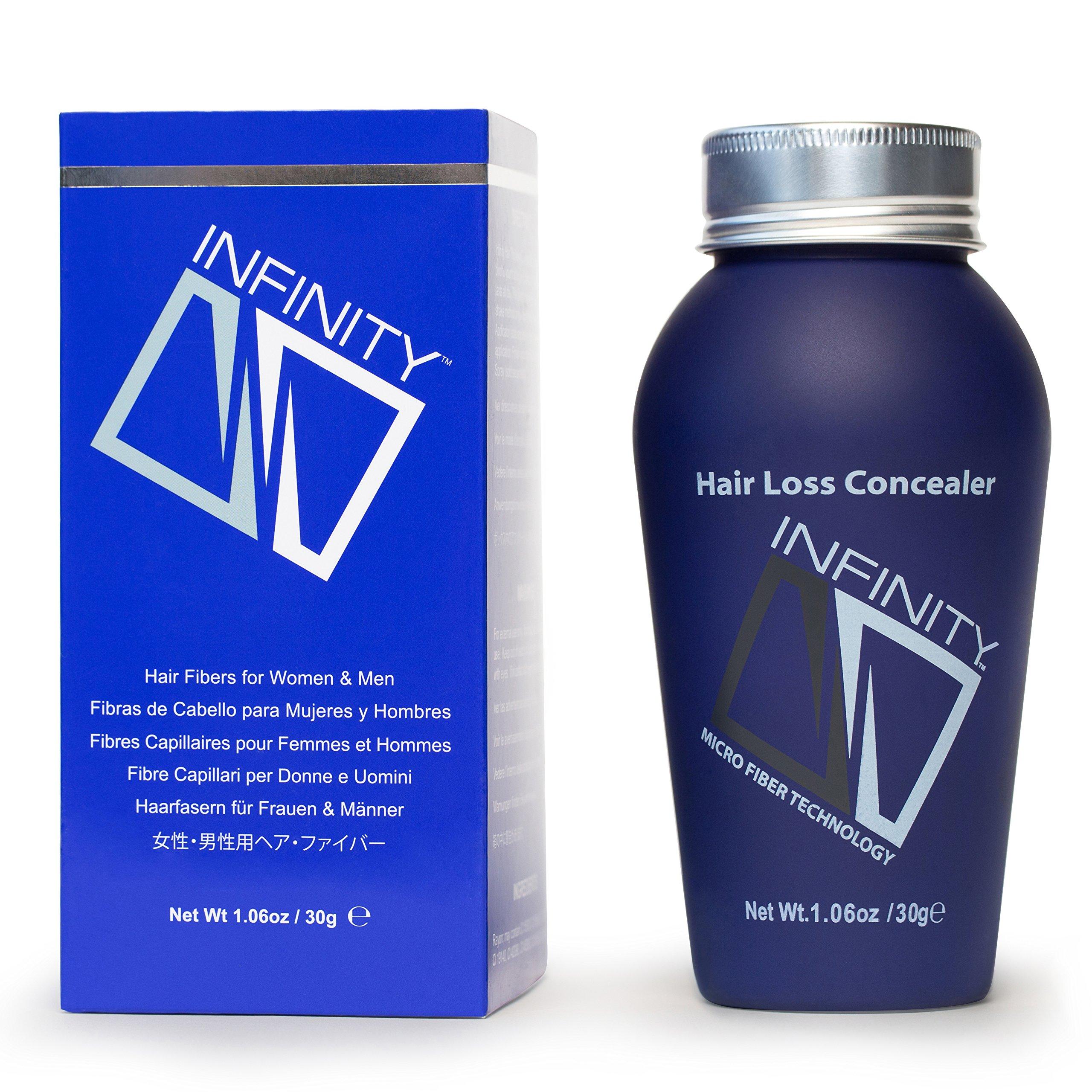 Infinity Hair Fiber - Hair Loss Concealer - Hair Thickening Fiber for Men & Women - Medium Brown, 28g by Infinity