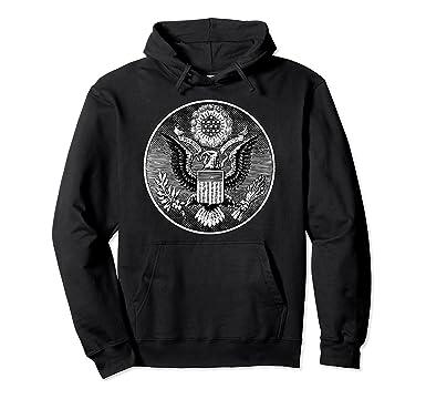 Amazon com: Illuminati and Dollar Bill Emblems American Eagle Hoodie