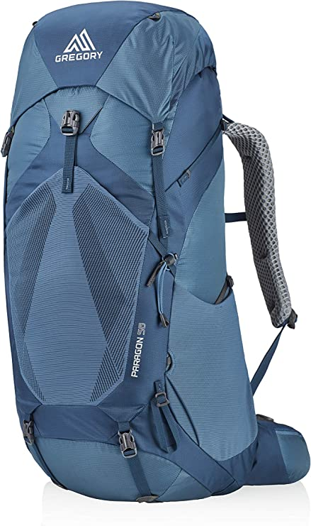 Image of a blue backpack from Gregory, bulky, with stylish design.