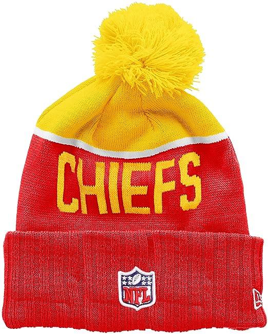 cfc47a27e85b6 A NEW ERA Era NFL Sport Knit Kansas City Chiefs-Gorro de Punto Hombre   Amazon.es  Ropa y accesorios