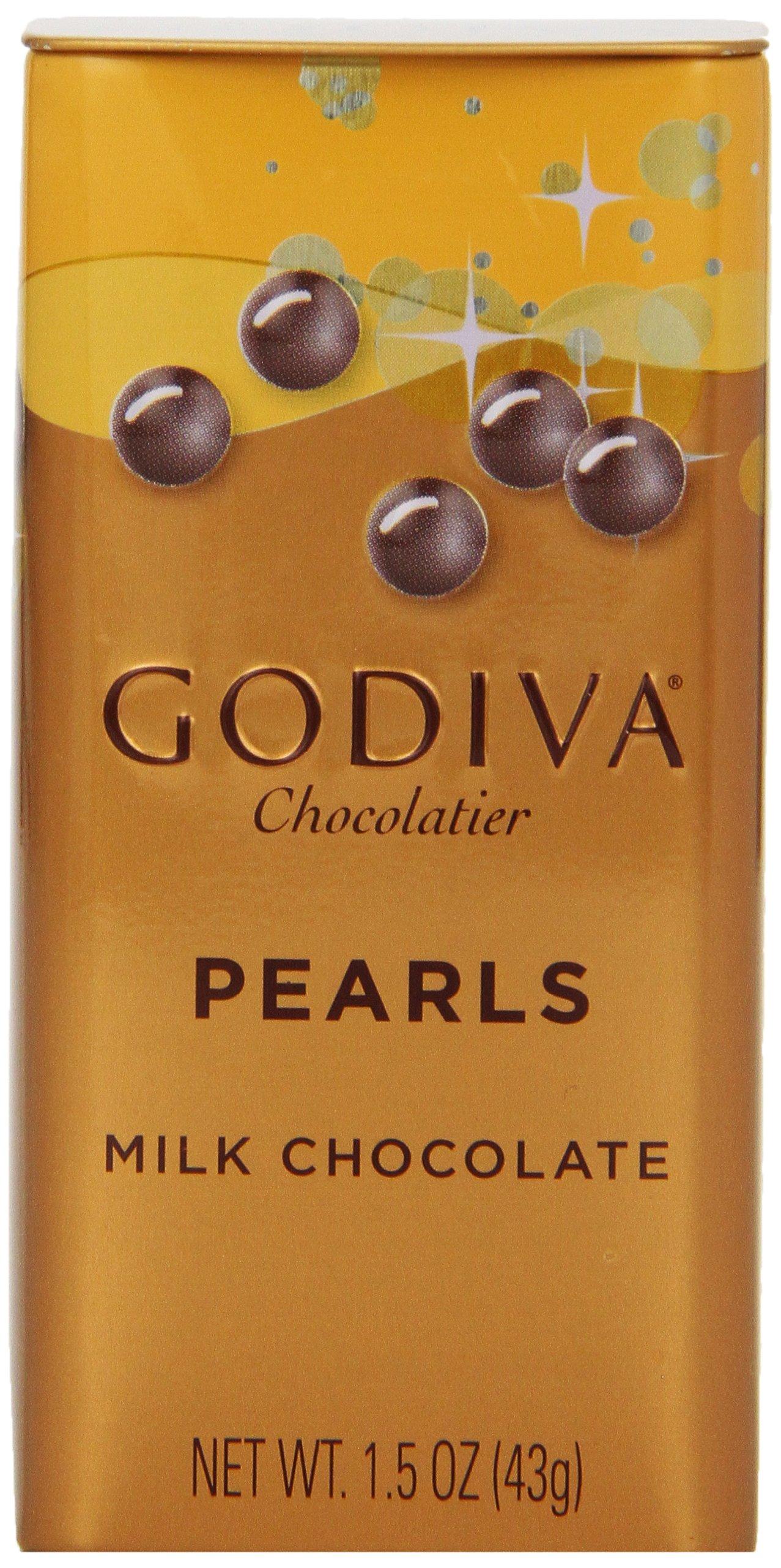 Godiva Milk Chocolate Pearls, 1.5-ounces (Pack of 6) by Godiva
