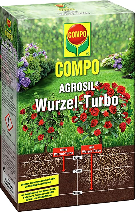 6 x 700 g Compo agrosil raíz de Turbo Hierro Fertilizante soluble ...