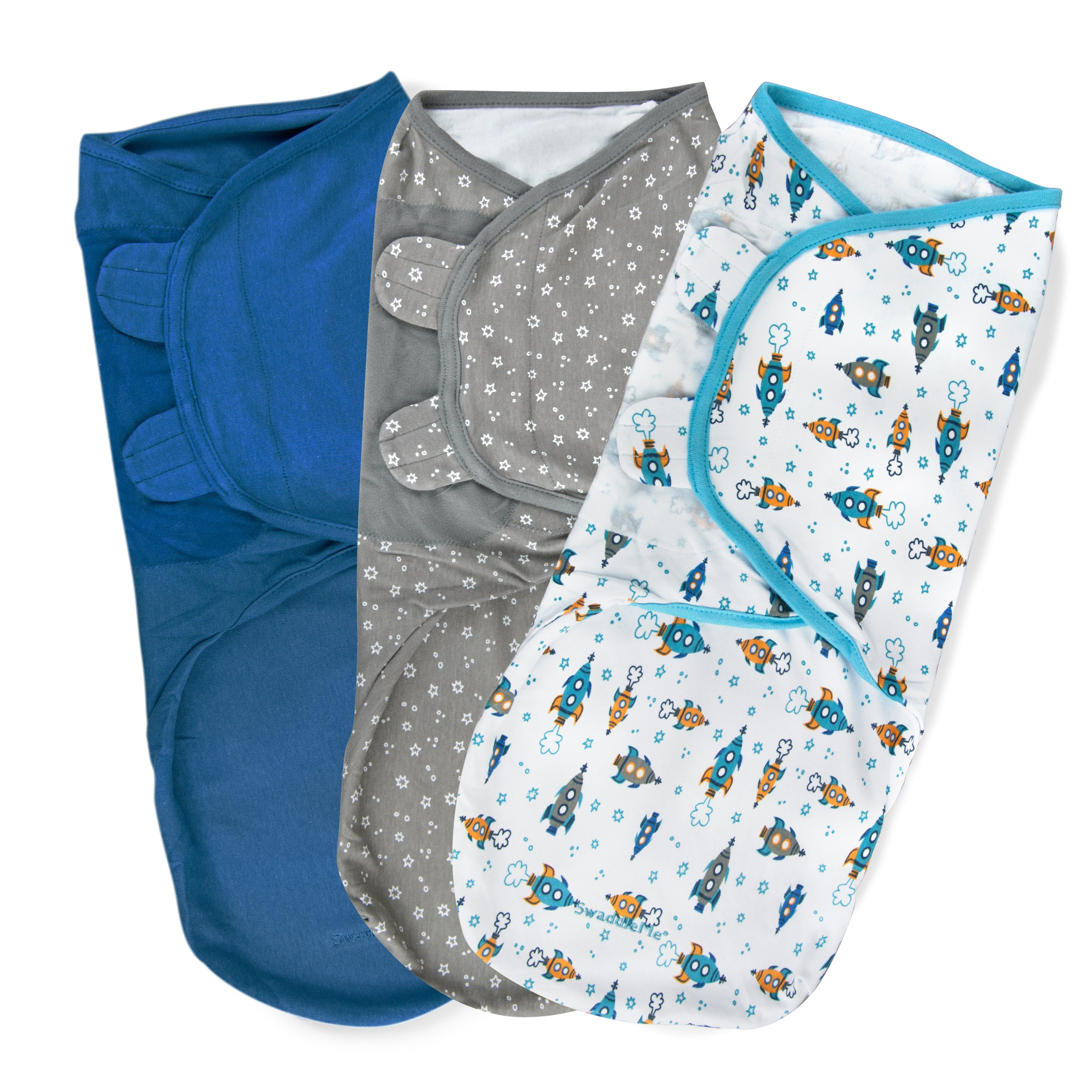Summer Infant SwaddleMe Adjustable Infant Wrap, Superstar, Large, 3 Count