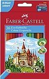Faber Castell 120136 - Estuche cartón con 36 lápices hexagonales multicolor, lápices escolares de colores