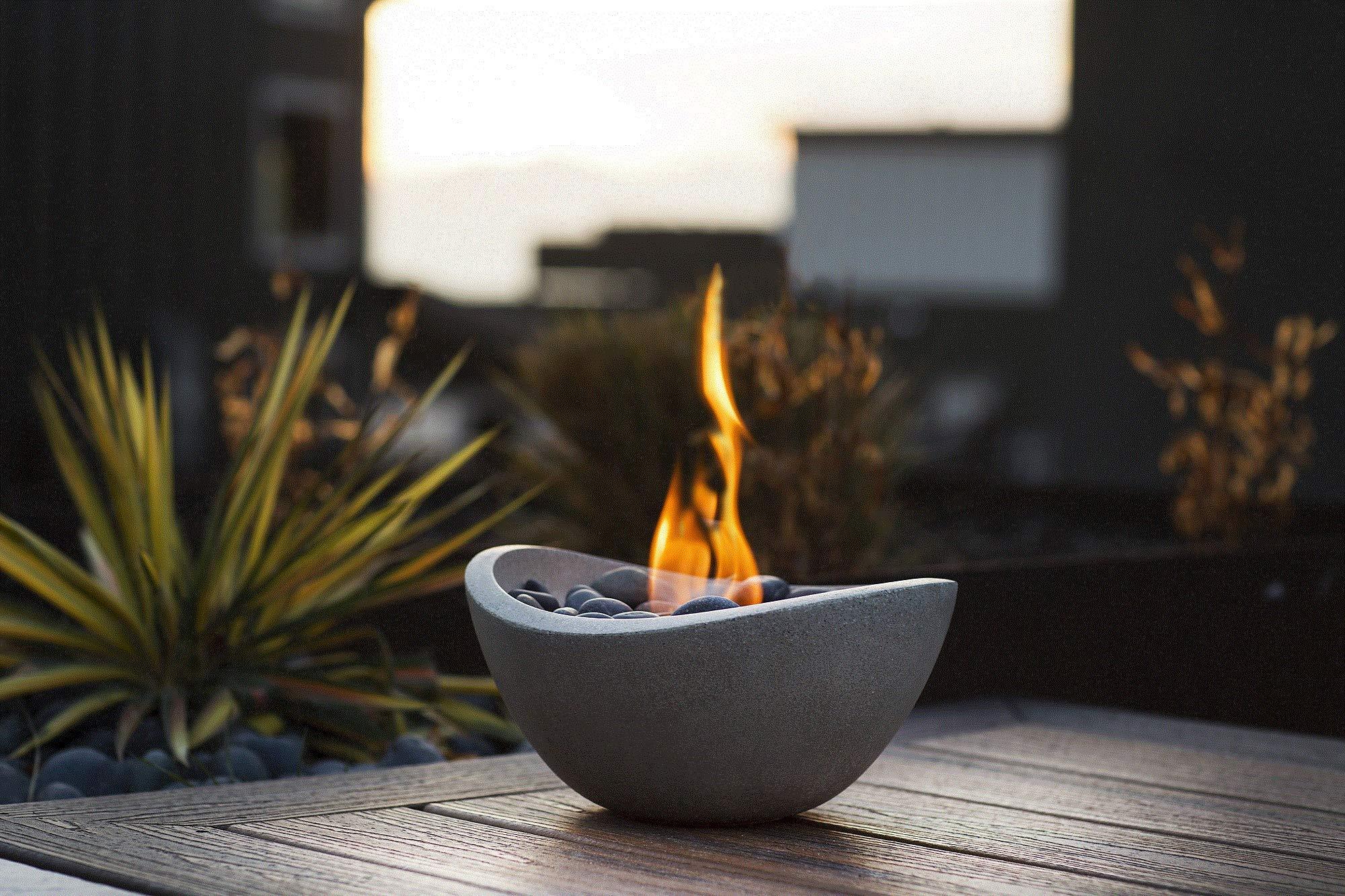 Terra Flame OD-TT-WAV-BGE-03N Fire Bowl, Stone by Terra Flame