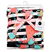 JLIKA Baby Blanket for Girls Swaddle Newborn Receiving Blankets - Coral (30 x40 ) Large