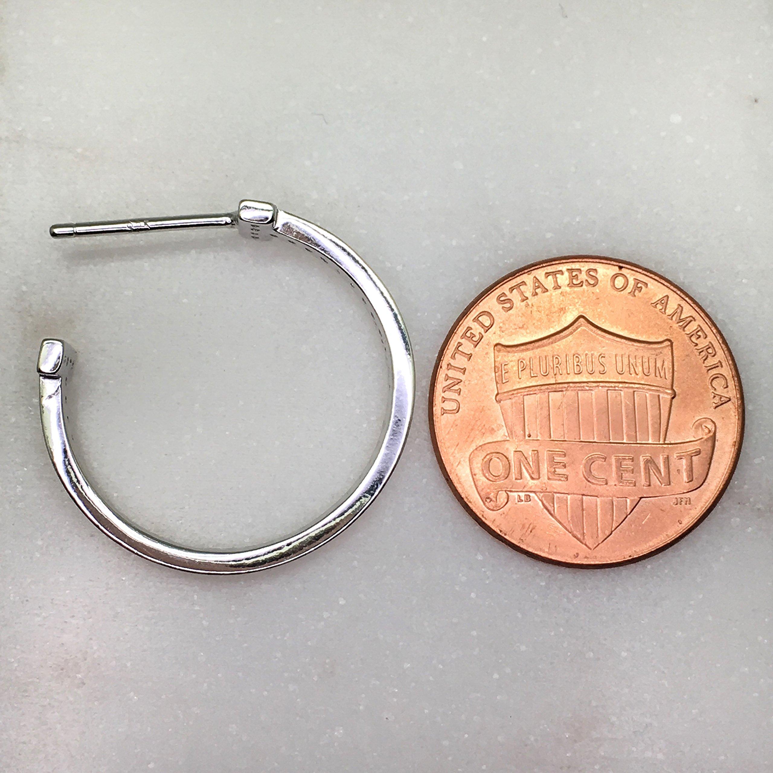 Spoil Cupid Rose Gold-Plated Sterling Silver Cubic Zirconia Medium Size Hoop Earrings