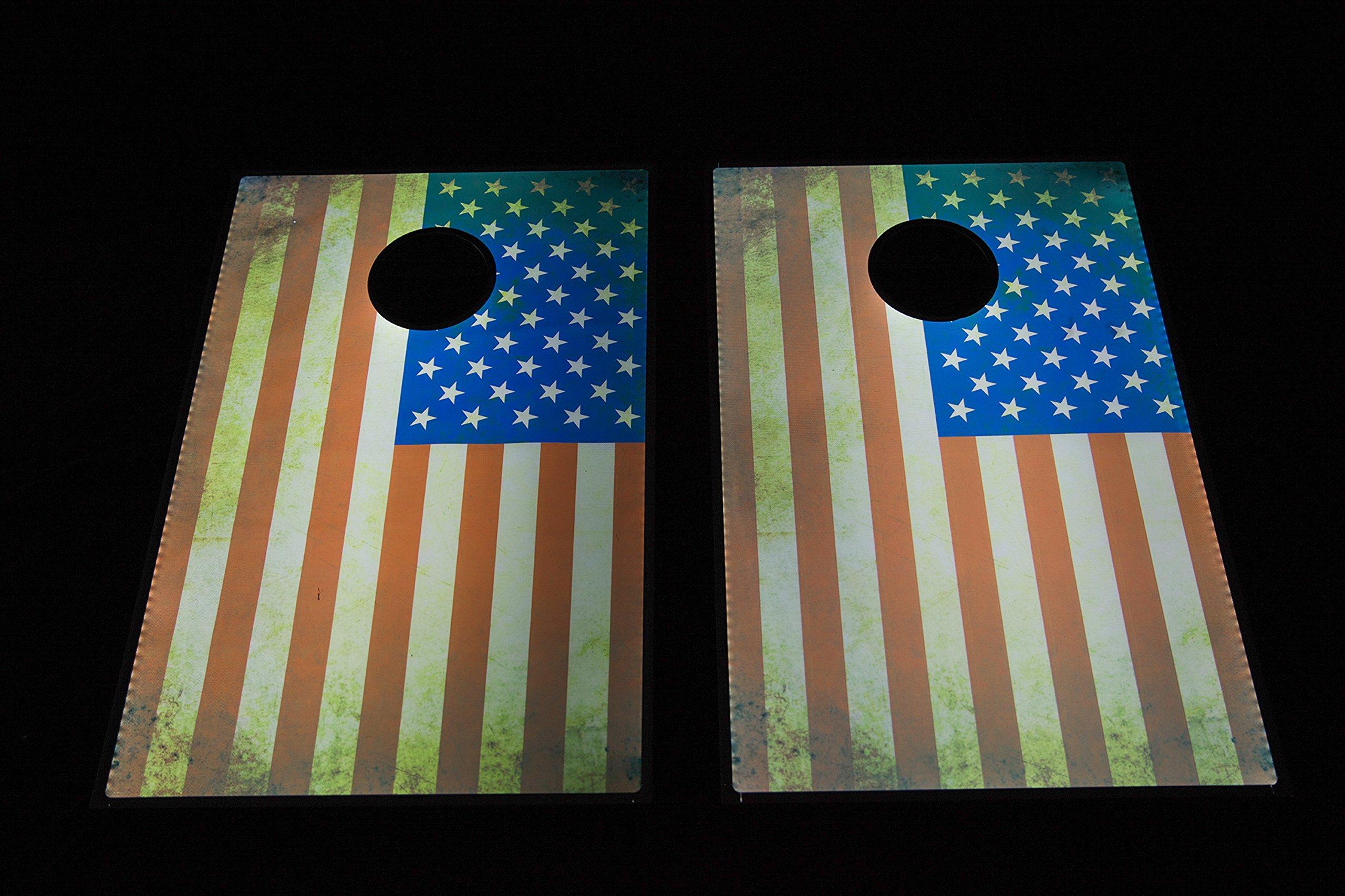 Sports Festival Light Up LED Cornhole Board Bean Bag Toss Game Set by Sports Festival (Image #2)