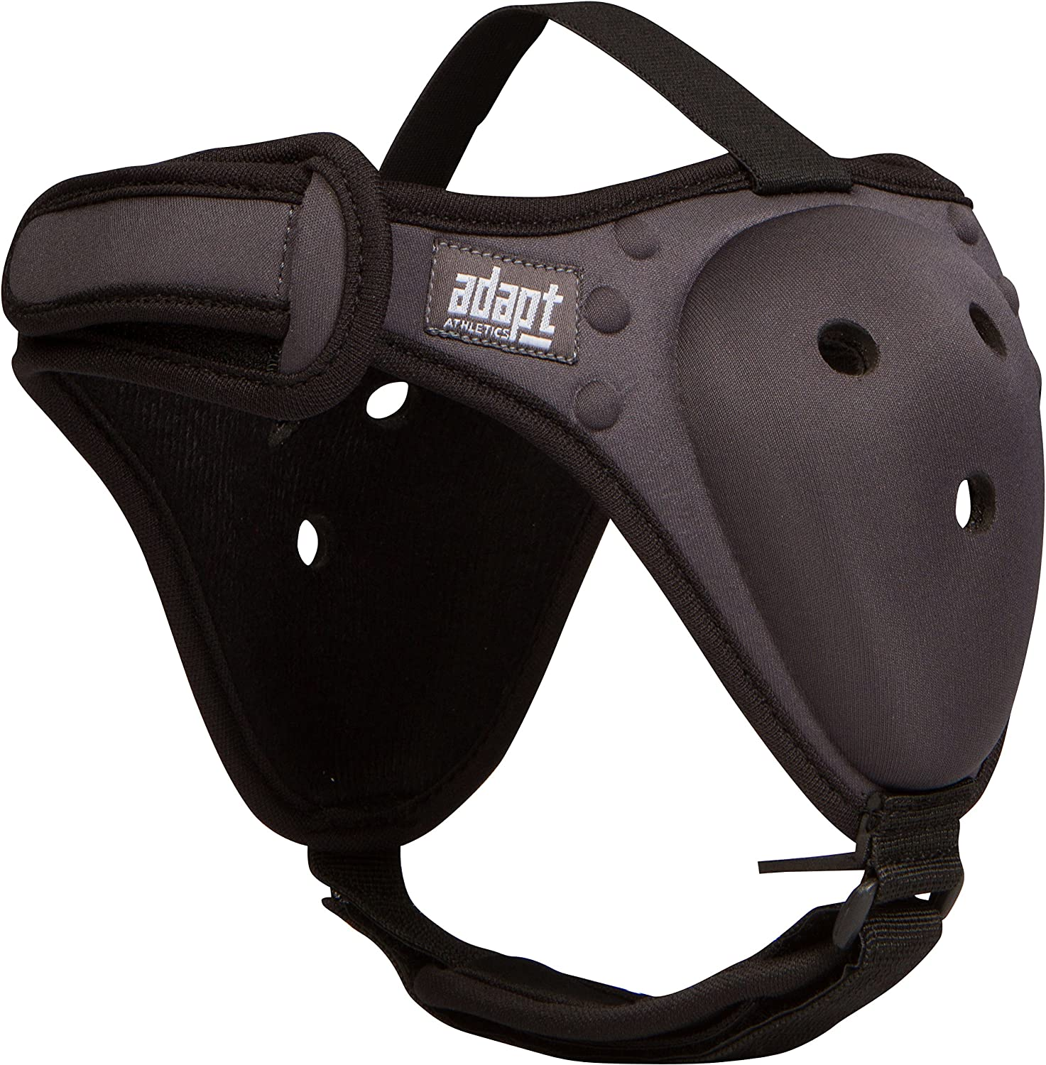 Adapt Athletics Enhanced Headgear for Wrestling, BJJ, & MMA Ear Protection: Extra Strong Stitching, Comfortable Chin Strap, Machine Washable, New Easy to Adjust Design One Size Fits Most (Dark Gray) : Sports & Outdoors