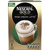 NESCAFÉ Gold Irish Cream Latte Coffee, 8 Sachets, 22 g (Pack of 6)