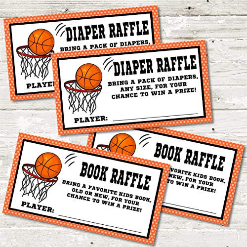 Amazon Com Basketball Baby Shower Diaper Raffle Tickets Set Of 30