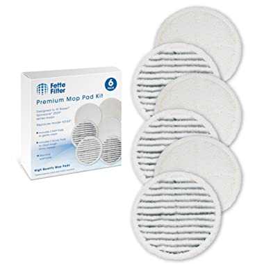 Fette Filter - Mop Pad Kit Replacement Pads Compatible with Bissell 2124 Spinwave