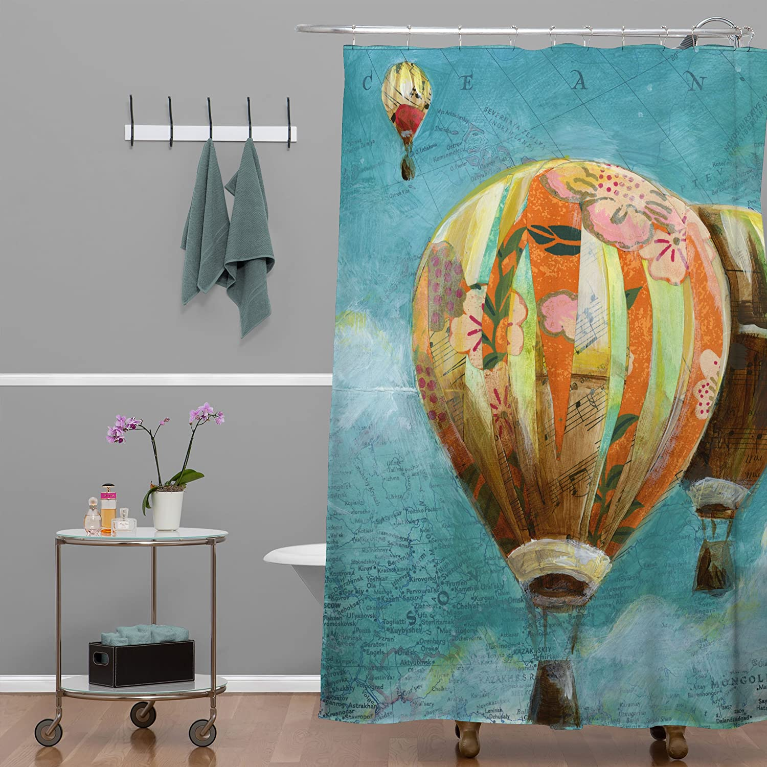 Deny Designs Land Of Lulu Herd Of Balloons 1 Shower Curtain 69 x 72