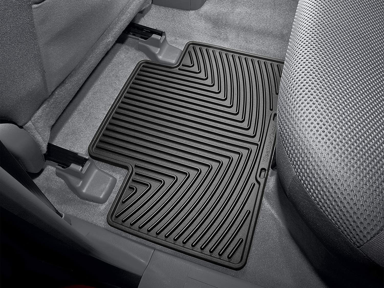 Black W136 WeatherTech All-Weather Trim to Fit Rear Rubber Mats for Select Toyota Tacoma//4 Runner Models