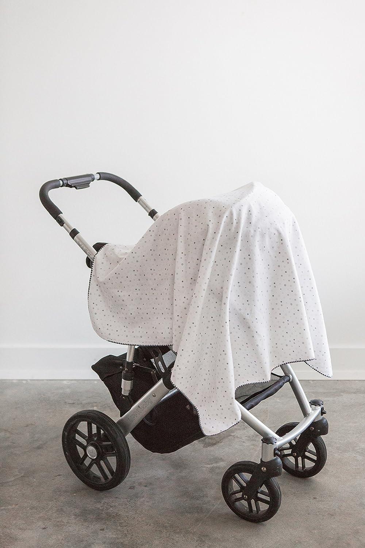 Ultimate Swaddle wundersch/öne Babydecke aus Baumwollflanell 106 x 106 cm Sterling hergestellt in den USA Amazing Baby von SwaddleDesigns verspielte Punkte
