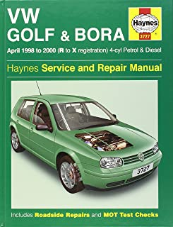 vw golf and bora 4 cyl petrol and diesel service and repair manual rh amazon co uk VW Golf 2018 VW Golf 2001 Inside