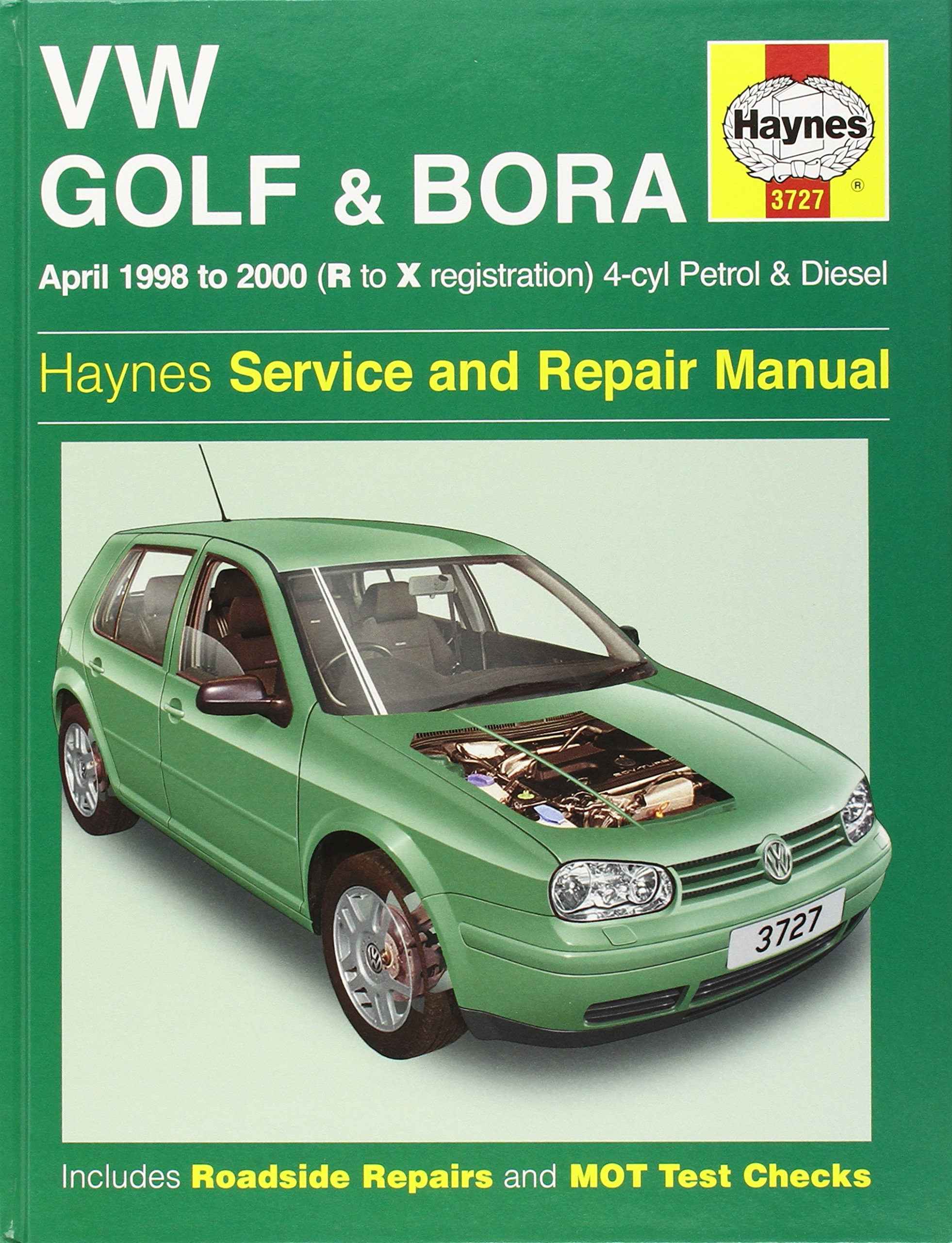 volkswagen golf and bora petrol and diesel 1998 2000 service and rh amazon  co uk Instruction Manual owner's manual golf 4