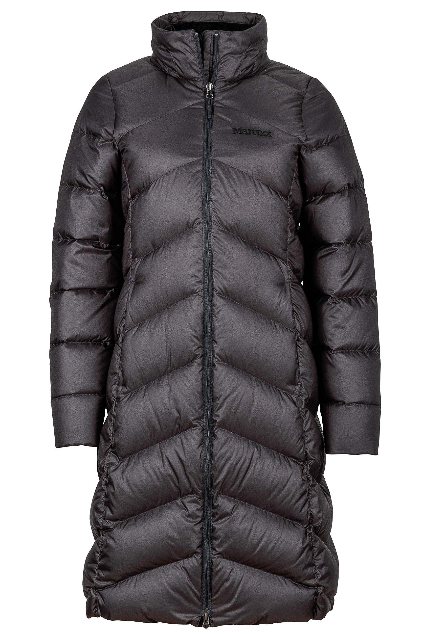 Marmot Montreaux Women's Full-Length Down Puffer Coat, Fill Power 700, Jet Black, Small