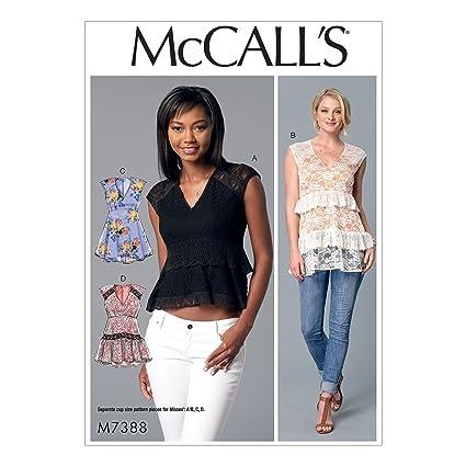 c594c954913 Amazon.com  McCall s 7388 Misses  V-Neck