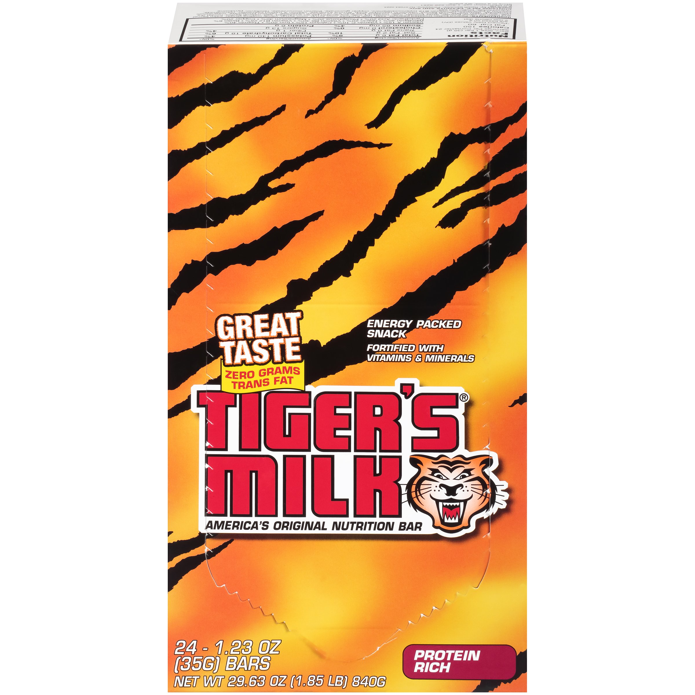 Tiger's Milk Protein Rich Nutrition Bar, 35 g (Pack of 96)