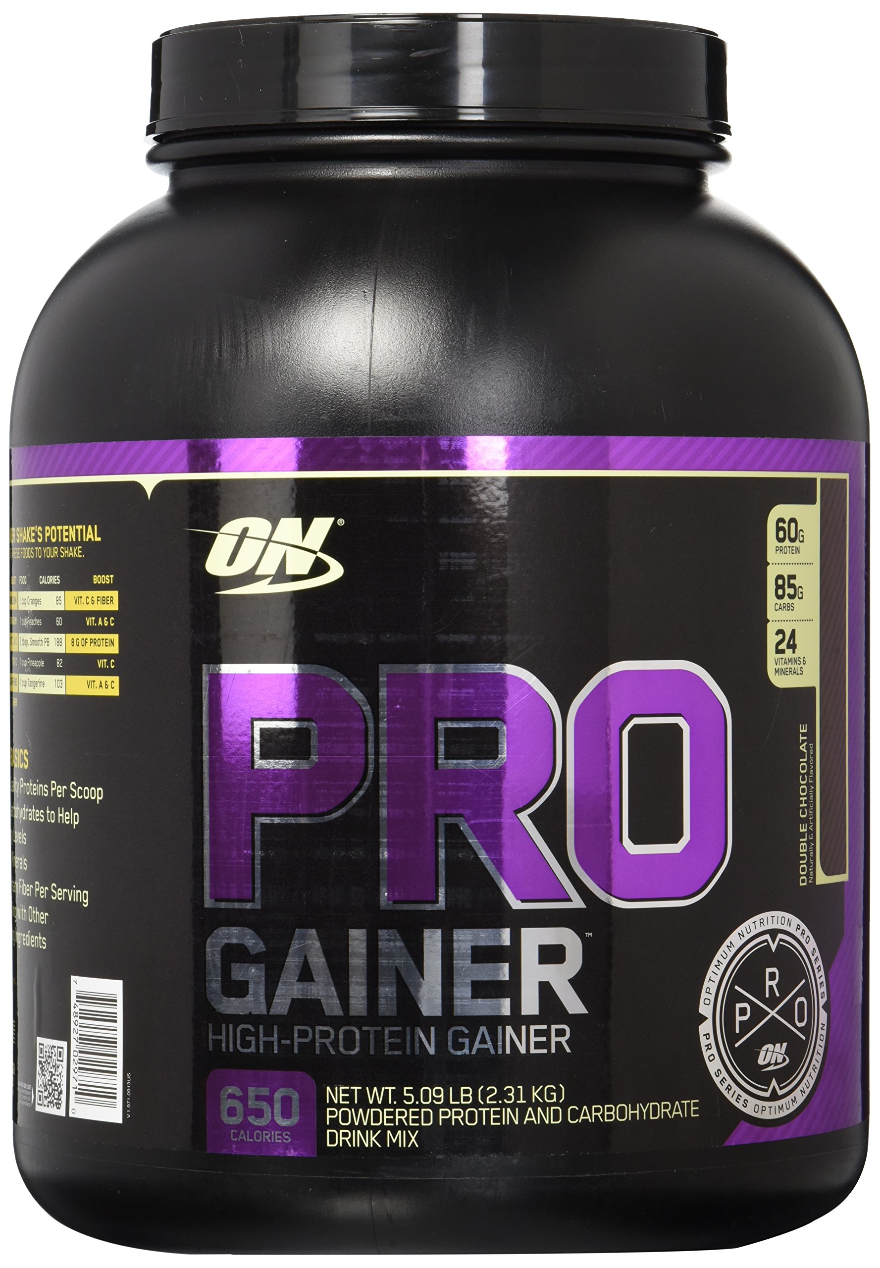 OPTIMUM NUTRITION Pro Gainer Protein Powder, Double Chocolate, 5.09 Pounds
