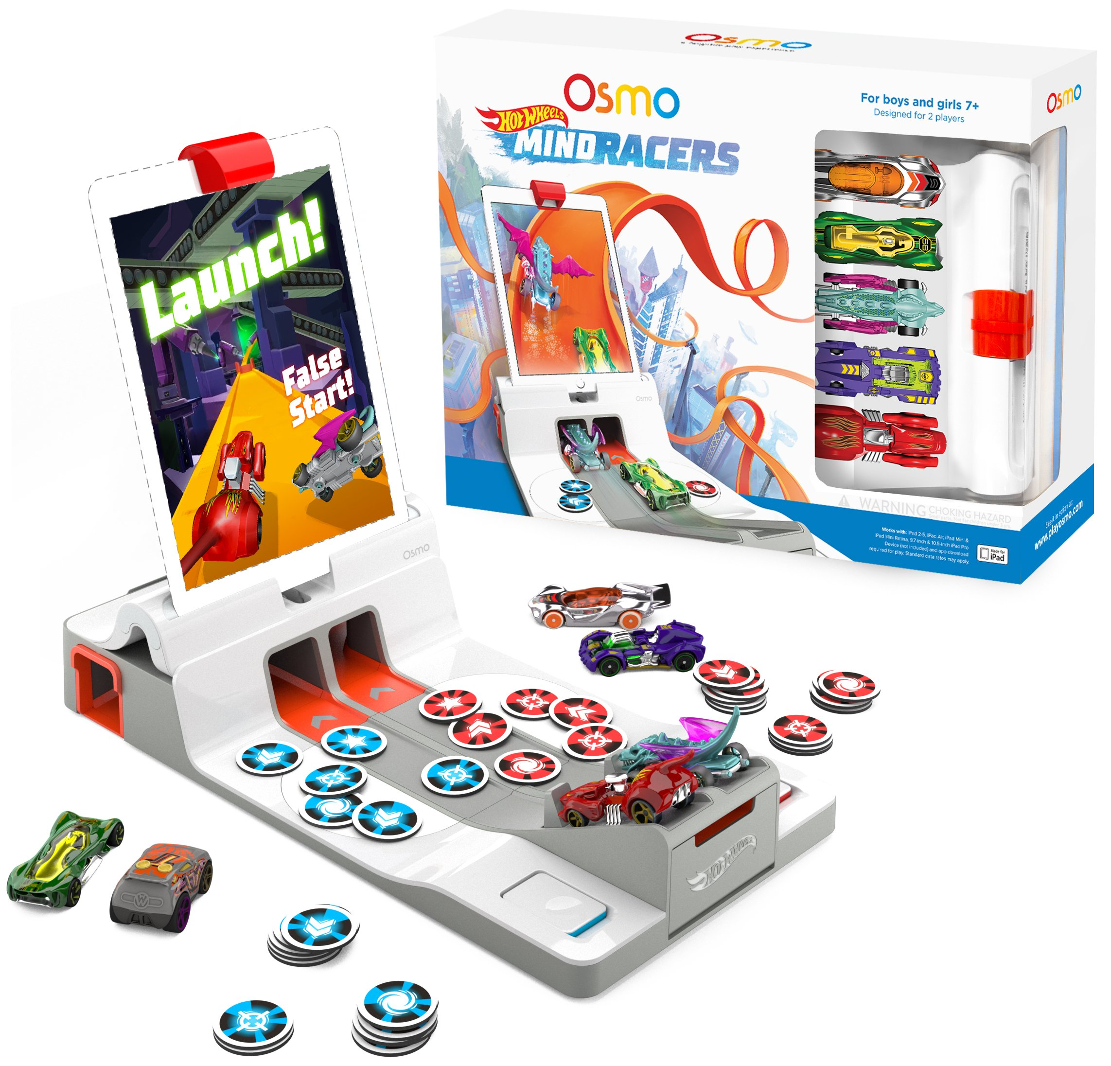 Osmo - Hot Wheels MindRacers Game Kit for iPad - Ages 7+ - Race a Real Hot Wheel On Screen - (Osmo iPad Base Included) by Osmo