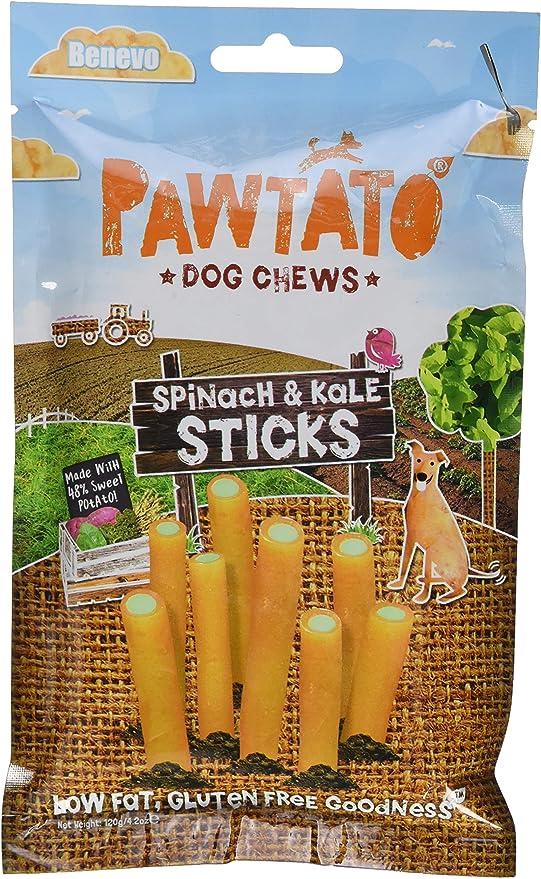 Amazon Com Benevo Pawtato Spinach And Kale Stick Dog Chews 4 2oz