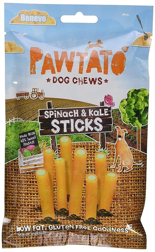 Benevo - Barritas Pawtato de Espinacas y Kale para Perros (120g/Variado)