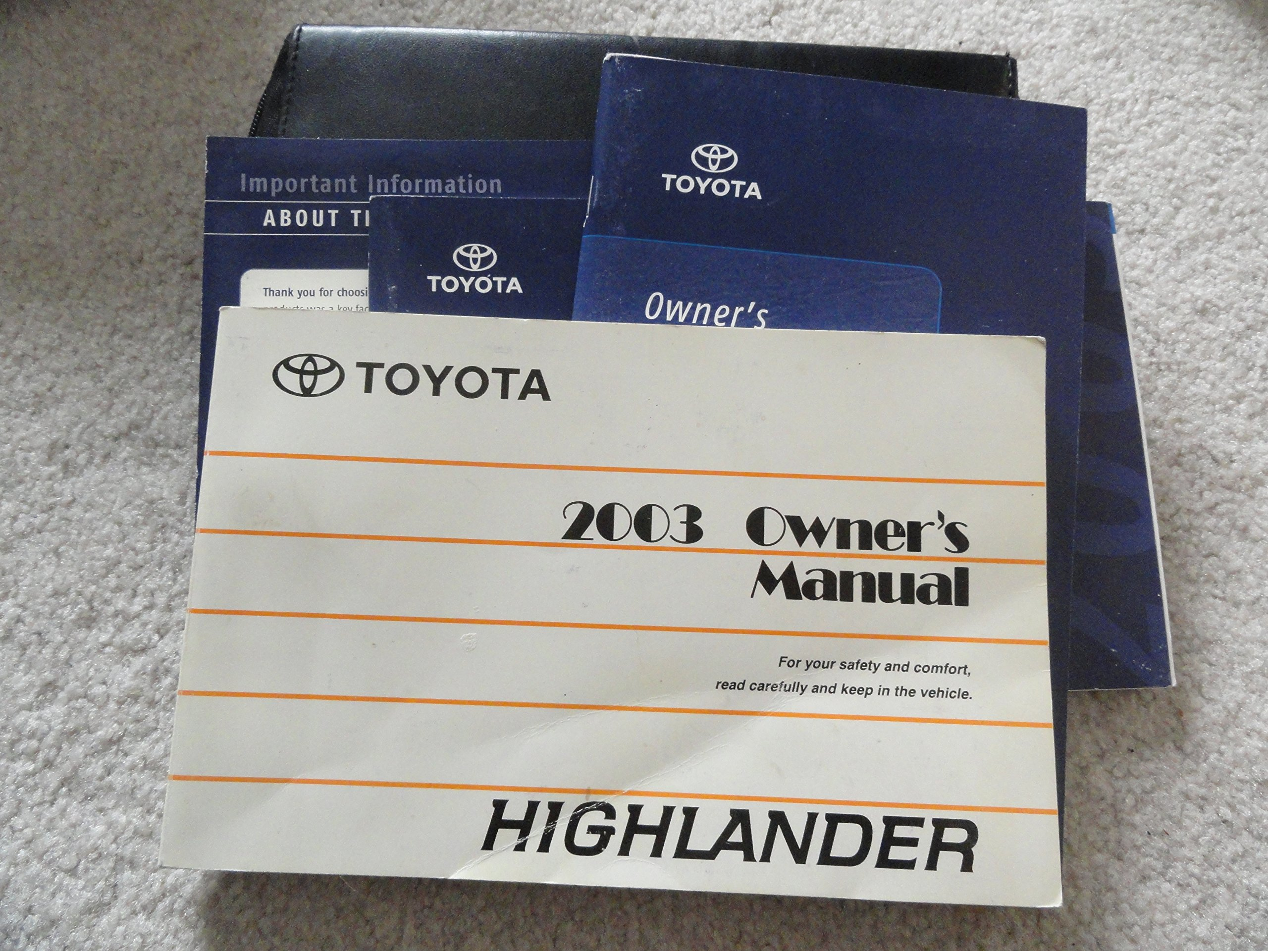 2003 toyota highlander owners manual toyota amazon com books rh amazon com 2006 Highlander 2006 Highlander