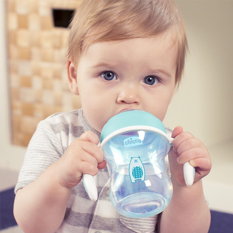 color azul Vaso de transici/ón con boquilla flexible Chicco