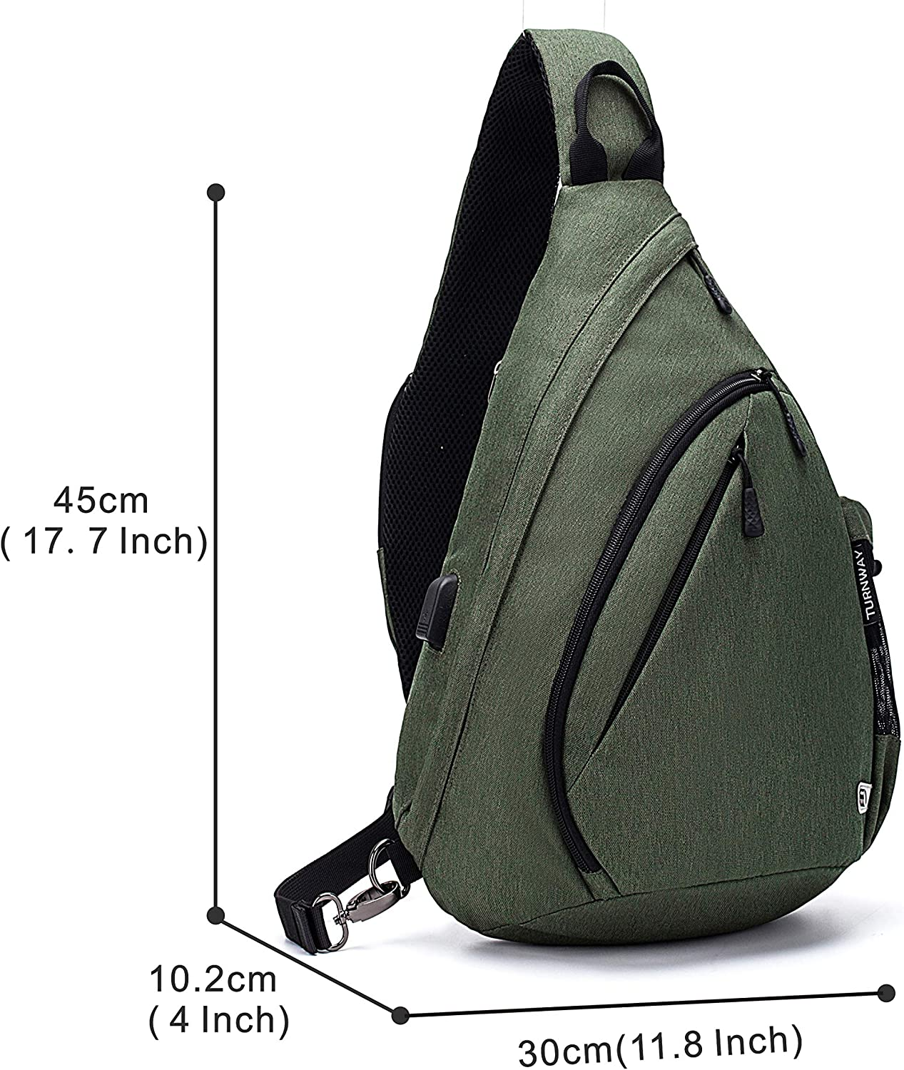 Cycling Camping for Women /& Men Hiking TurnWay Water-Proof Sling Backpack//Crossbody Bag//Shoulder Bag for Travel Black