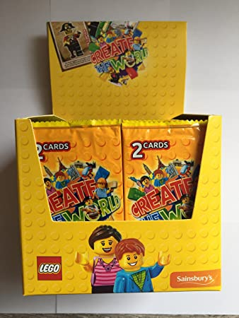 box of 300 lego create the world cards 150 packs of 2 yellow