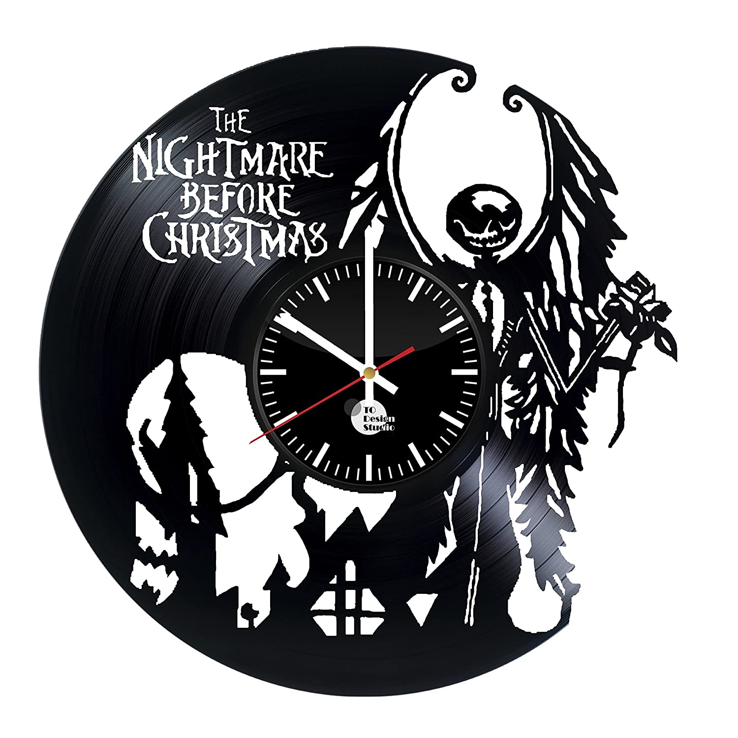 Amazon.com: The Nightmare Before Christmas Story Vinyl Record Wall ...