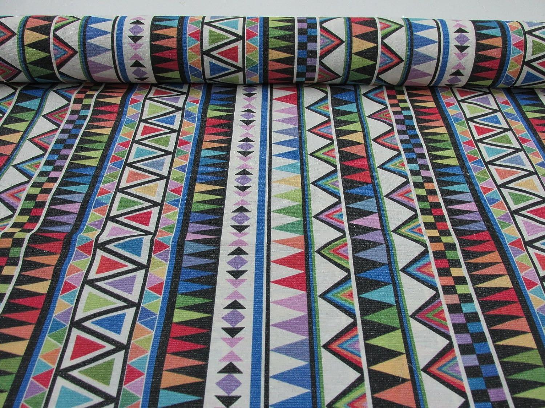Confecci/ón Saymi Metraje 0,50 MTS Tejido loneta Estampada Ref Delta Multicolor con Ancho 2,80 MTS.