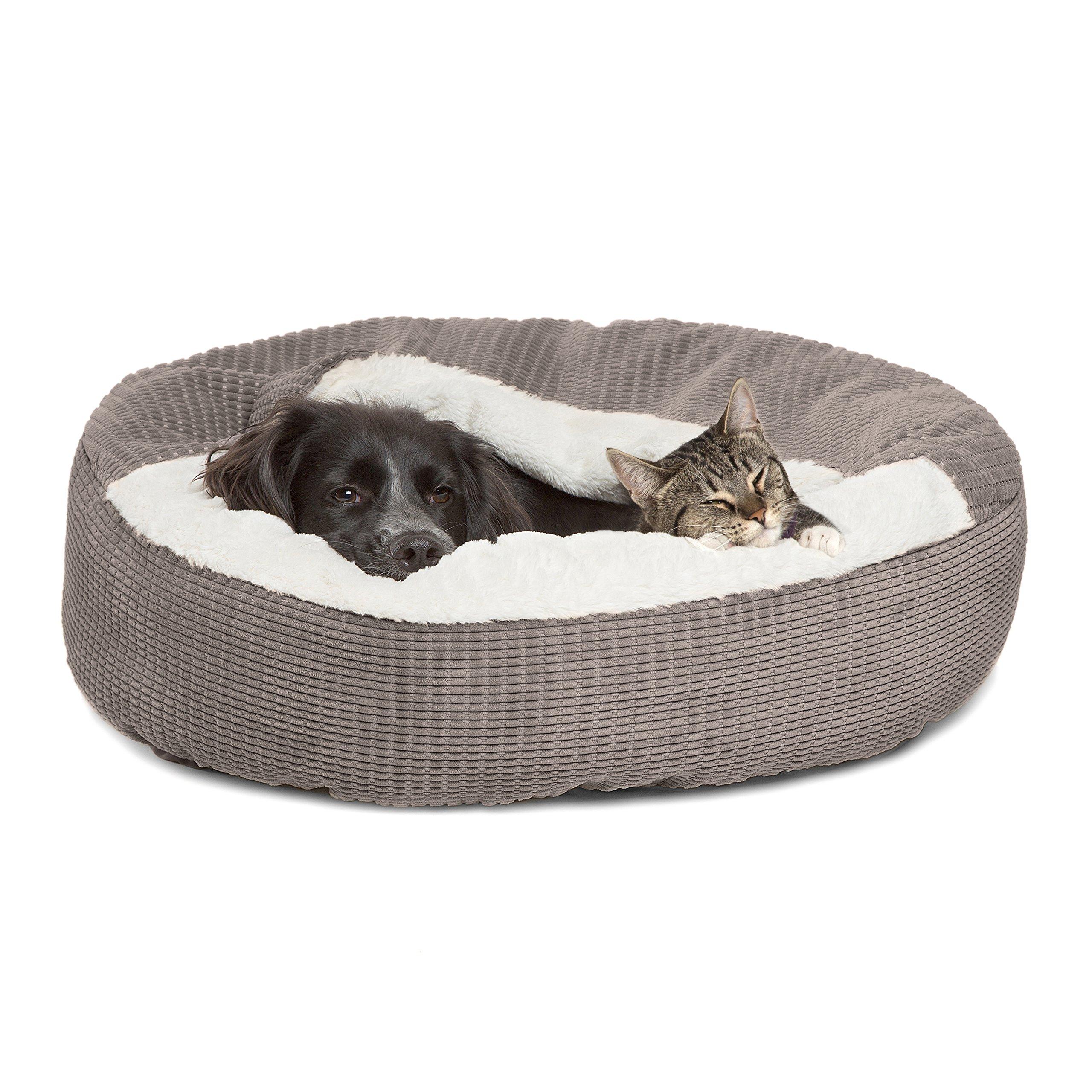 Best Friends by Sheri Cozy Cuddler in Mason Dog/Cat Bed, 26'' x 26'', Gray