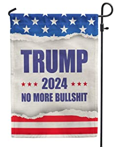 Trump 2024 flag,Donald Trump garden flags for room, Vertical Double Sided yard decoration banner,12x18 outdoor
