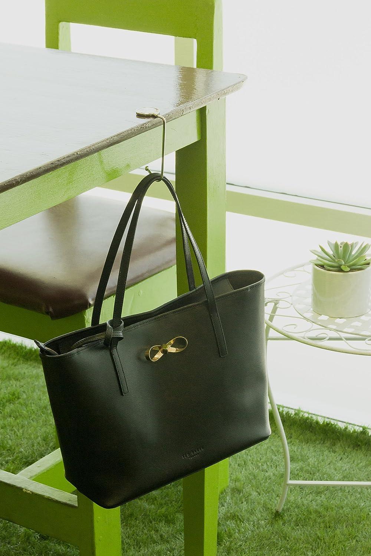 5914ccfa92d Amazon.com  Purse Hook - Womens Lightweight Handbag Purse Hanger - Bag  Holder for Tables   Desks w Gift Bag Included by SilverHooks (Assorted  Flowers)  ...