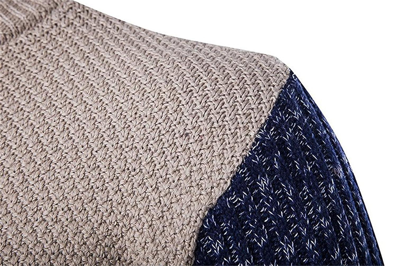 Robert Reyna Unique Mens Splice Round Collor Contrast Sleeve Sweaters