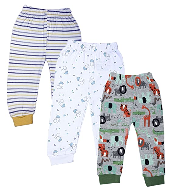 1a999c0c9 Kyda Kids Cotton Baby Pajama Pants Unisex with Rib (Pack of 3 ...