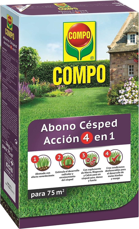 Compo Abono de césped Acción 4 en 1, para 75 m², 3 kg, 2232702011: Amazon.es: Jardín