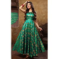 Women's Girl's A-Line Brocket Gown By Laxmi Creation