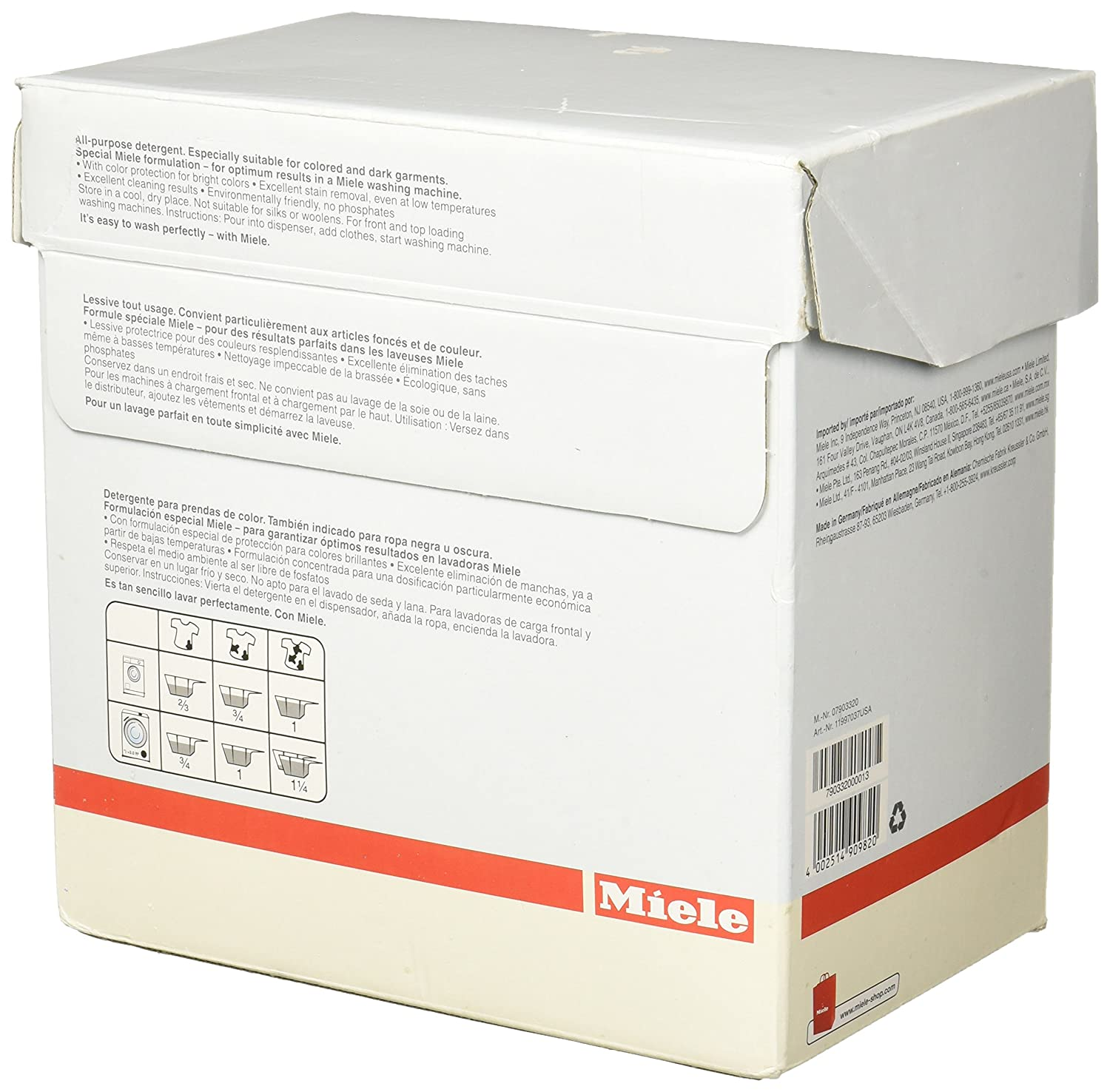 Miele Care Collection 07903150 UltraColor Detergente (1.8 kg, 4.0 ...