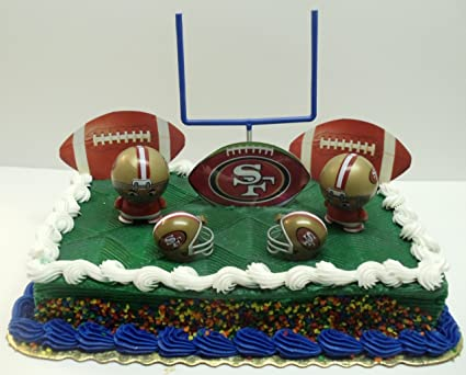Image Unavailable Not Available For Color NFL Football San Francisco 49ers Birthday Cake Topper