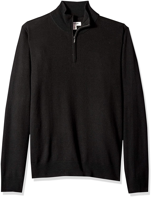 75defecff13b30 Amazon.com: Amazon Brand - Goodthreads Men's Merino Wool Quarter Zip Sweater:  Clothing