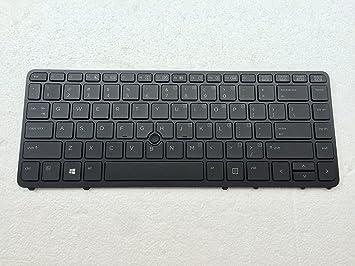 For HP EliteBook 840 G1 850 G1 HP840 G2 ZBook 14 Silver Frame US Laptop Keyboard
