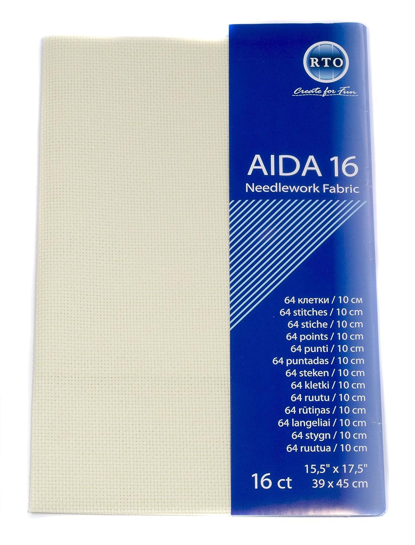 4x17x1 cm RTO Aida 16 Count Ivory 39cm x 45cm
