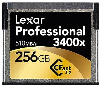 Lexar 256GB 3400x CFast 2.0 256GB CompactFlash Memoria Flash ...