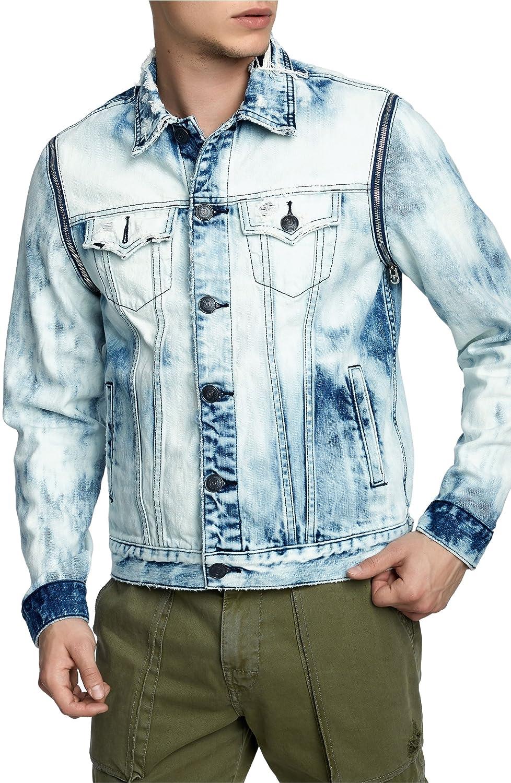 [トゥルーレリジョン] メンズ ジャケットブルゾン True Religion Brand Jeans Danny Denim Ja [並行輸入品] B07DRCXFDJ Large